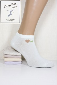 Стрейчевые женские носки ШУГУАН укороченные Арт.: 2542-1 / Сердечки / Упаковка 12 пар /