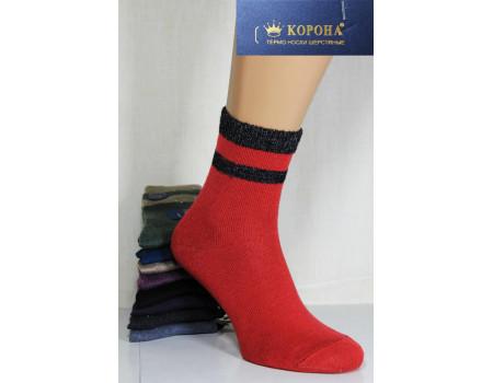 Женские шерстяные носки с люрексовой резинкой КОРОНА Арт.: B2518-3