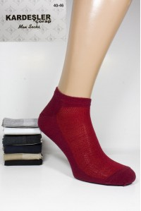 Стрейчевые мужские носки в сеточку KARDESLER укороченные Арт.: 0401 / Упаковка 12 пар /