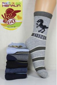 Махровые детские носки KENALIN GO высокие Арт: 304 / Упаковка 12 пар /