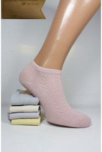 Стрейчевые женские носки ШУГУАН короткие Арт.: B2245-A / Косичка /