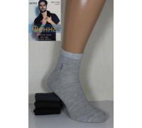 Стрейчевые мужские носки ФЕННА средней высоты Арт.: 1202-7 / X - X / Упаковка 12 пар /