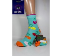 Стрейчевые женские носки KENZO высокие Арт.: 4115-1 / Вишни /