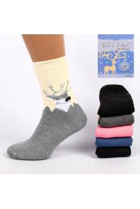 Махровые женские носки без резинки ШУГУАН высокие Арт.: B2673 / Упаковка 12 пар /