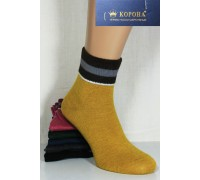 Женские шерстяные носки на плюшевом манжете КОРОНА высокие Арт.: B2518-1 / Упаковка 10 пар /
