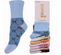 Стрейчевые детские носки на компрессионной резинке КОРОНА средней высоты Арт.: BY303-1
