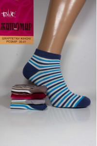 Стрейчевые женские носки ЖИТОМИР Талько средней длины Арт.: 2311L-4 / Мелкая разноцветная полоска /