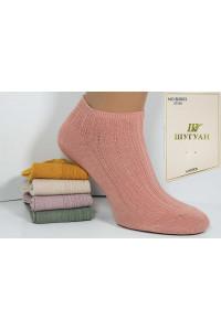 Стрейчевые женские носки в рубчик ШУГУАН укороченные Арт.: B2603