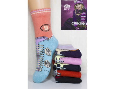 Махровые детские носки BFL Children высокие Арт: C48-10 / Упаковка 12 пар /