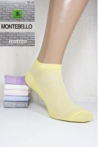 Стрейчевые женские носки в сеточку MONTEBELLO Ф3 короткие Арт: 7422KС / Упаковка 12 пар /