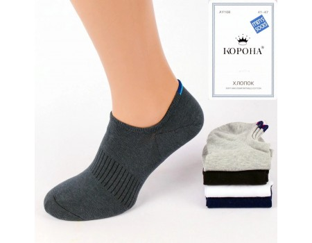 Стрейчевые мужские носки КОРОНА ультракороткие Арт.: AY108-2