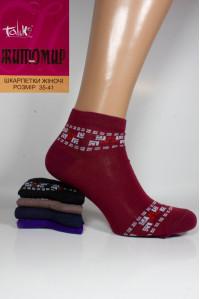 Стрейчевые женские носки ЖИТОМИР Талько средней длины Арт.: 2311L-5 / Узор кубики + ягоды /