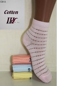 Стрейчевые детские носки в сеточку ШУГУАН средней высоты Арт.: C613
