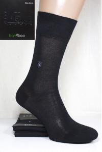Бамбуковые мужские носки 100% классика BYT CLUB высокие Арт.: 2824-33 / Упаковка 12 пар /