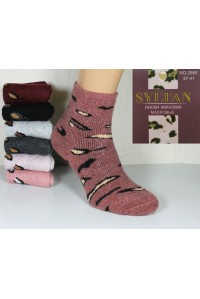 Шерстяные махровые женские носки SYLTAN средней длины Арт.: 2866 / Упаковка 12 пар /