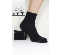 Стрейчевые спортивные мужские носки KARDESLER средней длины Арт.: 1303-3 / Черный / Упаковка 12 пар /