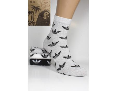 Стрейчевые мужские носки Be HAPPY and SMILE средней высоты Арт.: 33230-37-3 / Адидас /