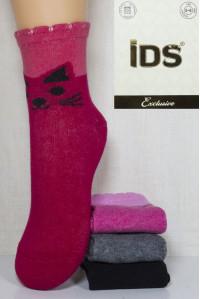 Стрейчевые детские носки на бордюрной резинке IDS средней длины Арт: 8686 / Упаковка 12 пар /