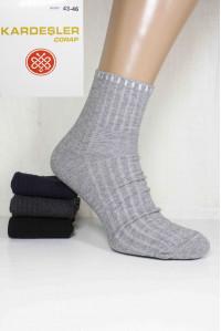Стрейчевые мужские носки в рубчик KARDESLER средней высоты Арт: 5189-46 / Упаковка 12 пар /