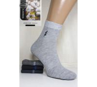 Стрейчевые мужские носки КОРОНА средней длины Арт.: A1331 / Молния /