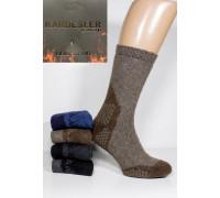 Шерстяные махровые мужские носки KARDESLER / Комбинированные / клетка / высокие Арт.: 9008