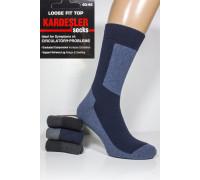Махровые мужские носки на компрессионной резинке KARDESLER высокие Арт.: 9668-1 / Комбинированный /