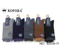 Шерстяные женские носки с меховым манжетом из ламы КОРОНА высокие Арт.: B2518-11 / Упаковка 10 пар /