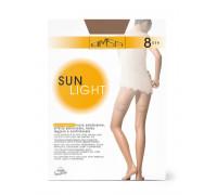 Чулки ультратонкие OMSA Sun Light 8 autoreggente