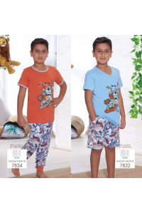 Детская пижама для сна из шортиков и футболки SEVIM Арт: 7832