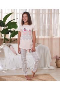 Детская пижама для сна из штанов и футболки с коротким рукавом SEVIM Арт: 7818