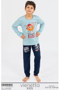 Детская пижама для мальчика из штанов и футболки с длинным рукавом Vienetta Kids Арт: 011155-0000