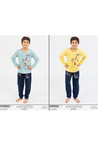 Детская пижама для мальчика из штанов и футболки с длинным рукавом Vienetta Kids Арт: 011156-0000