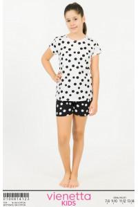 Детская пижама для сна из шорт и футболки Vienetta Kids Арт: 010081-4123