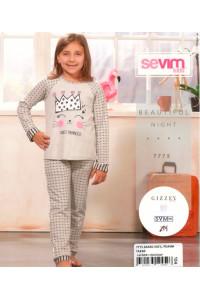 Детская пижама для сна из штанов и футболки с длинным рукавом SEVIM Арт: 7775
