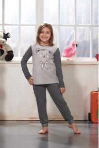 Детская пижама для сна из штанов и футболки с длинным рукавом SEVIM Арт: 7781
