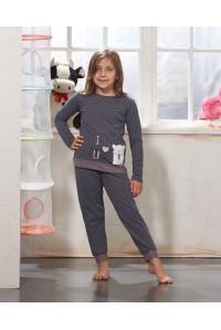 Детская пижама для сна из штанов и футболки с длинным рукавом SEVIM Арт: 7778