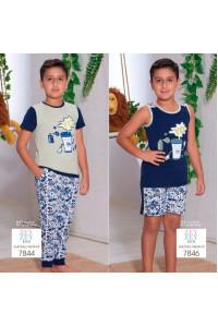 Детская пижама для сна из шортиков и маечки SEVIM Арт: 7846