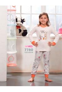 Детская пижама для сна из штанов и футболки с длинным рукавом SEVIM Арт: 7780