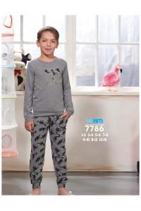 Детская пижама для сна из штанов и футболки с длинным рукавом SEVIM Арт: 7786