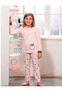 Детская пижама для сна из штанов и футболки с длинным рукавом SEVIM Арт: 7777