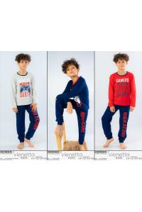 Детская пижама для мальчика из штанов и футболки с длинным рукавом Vienetta Kids Арт.: 104020-0000