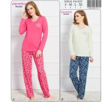 Комплект штанов и футболки с длинным рукавом Vienetta Secret Арт: 706008-7077
