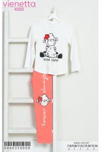 Детская пижама из штанов и футболки с длинным рукавом Vienetta Kids Арт: 006035-0000