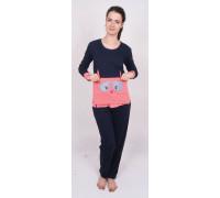 Комплект штанов и футболки с длинным рукавом на байке Nicoletta Арт: 88203