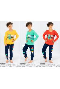 Детская пижама для мальчика из штанов и футболки с длинным рукавом Vienetta Kids Арт.: 104026-0000