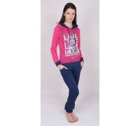 Комплект штанов и футболки с длинным рукавом на байке Nicoletta Арт: 88212