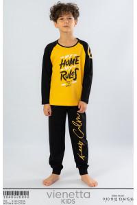 Детская пижама для мальчика из штанов и футболки с длинным рукавом Vienetta Kids Арт.: 104052-0000