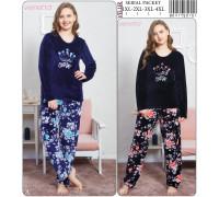 Комплект велюровый из штанов и футболки с длинным рукавом Vienetta Secret Арт: 804175-0151