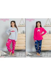 Детская пижама из штанов и футболки с длинным рукавом на байке Vienetta Kids Арт: 004003-7901