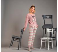 Комплект женский из штанов и футболки с длинным рукавом SEVIM Арт: 11597